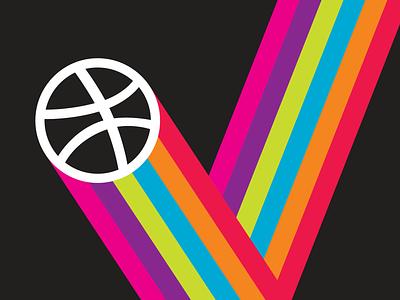 Dribbble Debut, Revisited basketball shot geometric flat illustration design vector illustrator adobe illustrator