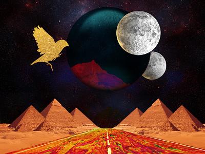 Giedi Prime adobe illustrator space astronomy worldbuilding scifi planets dunemovie collage surreal adobe photoshop