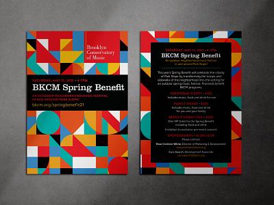 Invitation to Music Benefit minimal geometric flat invitation illustration design vector illustrator adobe illustrator