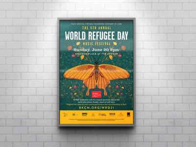 Music Festival Poster Design butterfly typography collaboration musicschool concert eventmarketing illustration design poster