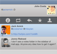 Timeline for iPhone 4 Twitter App
