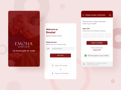 Emoha - Splash Screen & Welcome Screen
