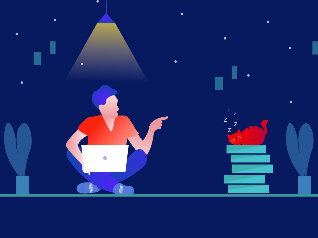 Don't Work over time ux animation web web  design vector indianillustrator illustration challenge illustration illustrate illustrat identity brand ui minimal illustrator graphic design flat design branding art