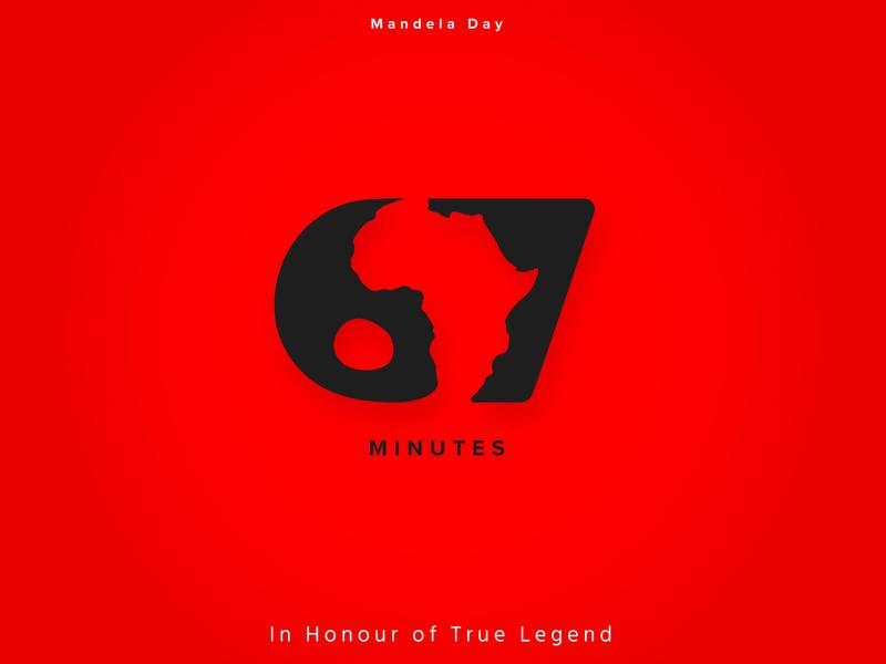 Mandela Day! design art black  white red dribbble minutes map africa 67 minutes nelson mandela mandela designer nmwdesigns designthursday ui typography branding art minimal graphic design design
