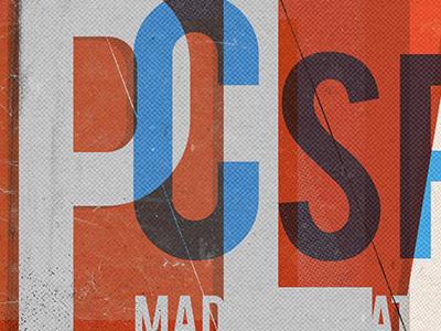 game assets typography halftone poster vintage game