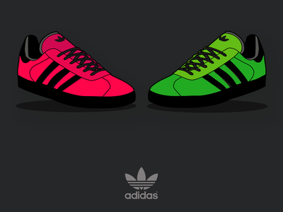 Adidas Gazelle Illustration adobe illustrator graphic design vector design illustration