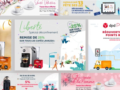 Bannieres Newsletter Web design web ui graphisme vector