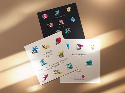 Identite visuelle Studio Graphic vector typography design graphisme identite branding