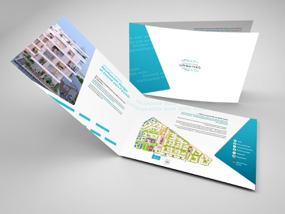 Plaquette Immobiliere vector brochure design