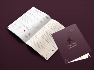 Leaflet branding illustration design brochure design