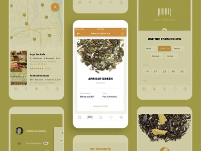 Adagio Teas mobile app. iOS and Android TeaGO app store ecommerce app buy find sort of tea cup usability testing usa ios app mobile ui mobile app design ui design uxdesign minimalism teago teago teaser android app design mobile app tea