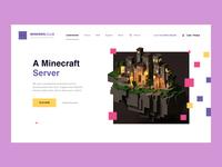 Design for Minemen Club / minemen.club illustration ui website webdesign web players play for player games clubs minemen migration server minecraft game