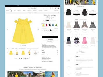 Deux Par Deux website. Product page babygirl fashion clothing baby ecommerce app ecommerce magento 2 kids minimal webdesign mobile shop store ui website responsive web product page design