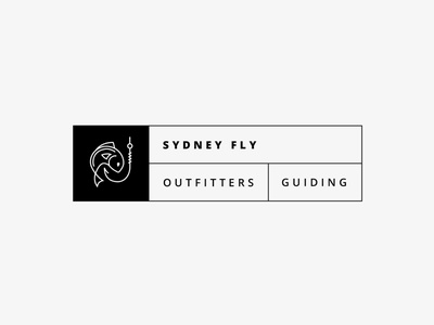Logo for Sydney Fly Outfitters & Guiding / flynguide.com.au outfitters guiding sydney basov fishing logo logotype logo design branding design brand identity australian fly-fishing fishing australia flynguide icon typography illustration branding minimal logo