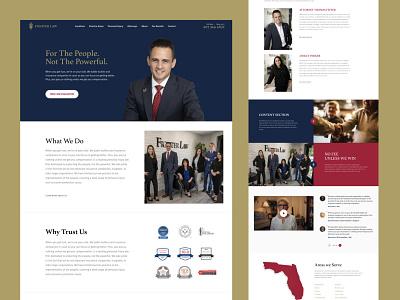 Fighter Law website design dark blue powerful florida fighting injury criminal law firm usa minimal webdesign website responsive web landing page design lawyer landing page law