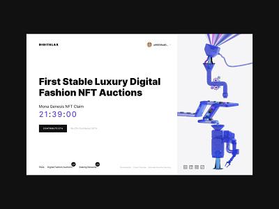 Design for Digitalax Auctions / Blockchain Platform / NFT Market webdesign coin finance money luxury design stack digital responsive website platform blockchain luxury brand auctions nft fashion digital art