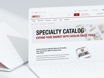Specialty Сatalog. Website design for Orgill distributor hardlines largest retail distribution ecommerce elements shop branding store basovdesign webdesign minimal web responsive website ui