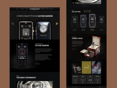 Luxury Product page for Ulysse Nardin black uidesign product design product page product landing page smartphone luxury logo ecommerce shop store webdesign web minimal responsive website ui luxury branding luxury design