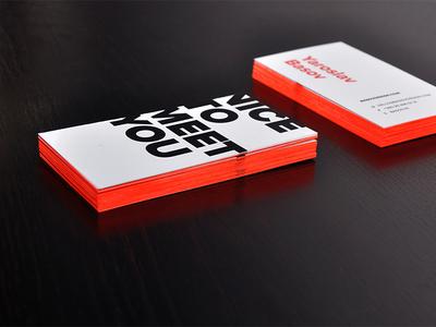Business cards. Yaroslav Basov.