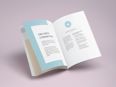 Brochure EBA minimal cmyk print design graphic brochure association business european