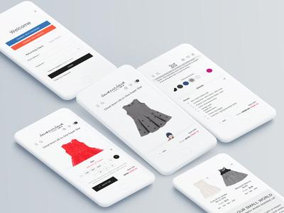 Deux par Deux. Mobile design ui ux web shop ecommerce kids fashion web design store catalog mobile