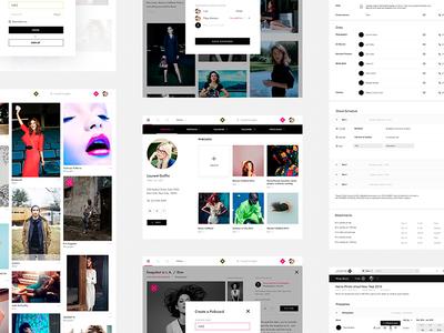 Design for Lenspire.com. Pages Set cards fashion grid inspiration models photo pinterest social social network web lenspire filters