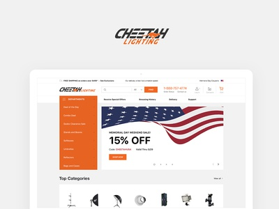 Cheetah Lighting. Website design