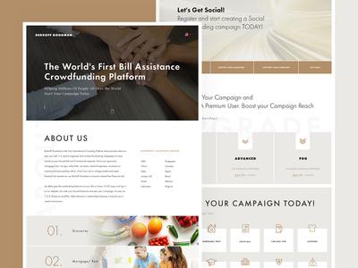 Homepage design for Berkoff Goodman website