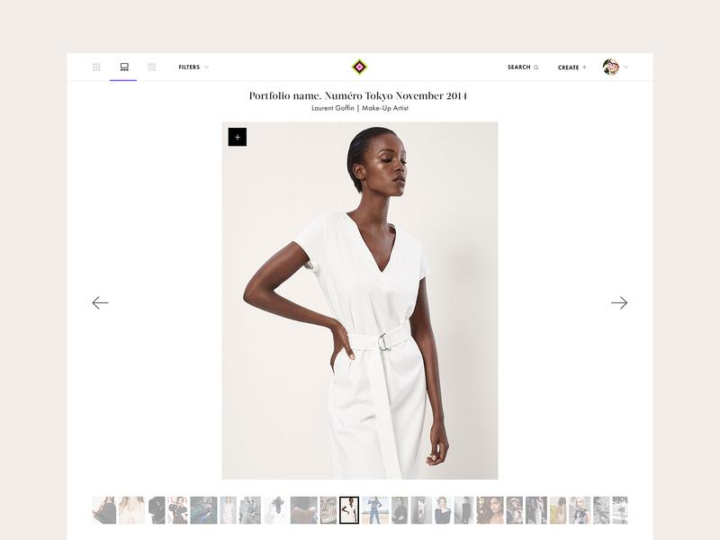 Portfolio. Design for Lenspire.com slider photography media portrait lenspire basov collaborative fashion portfolio design minimal webdesign basovdesign web responsive ui website