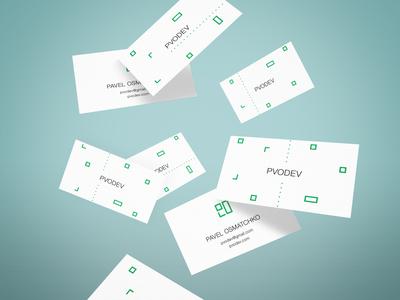 Branding for developer Paul Osmachko. PVO