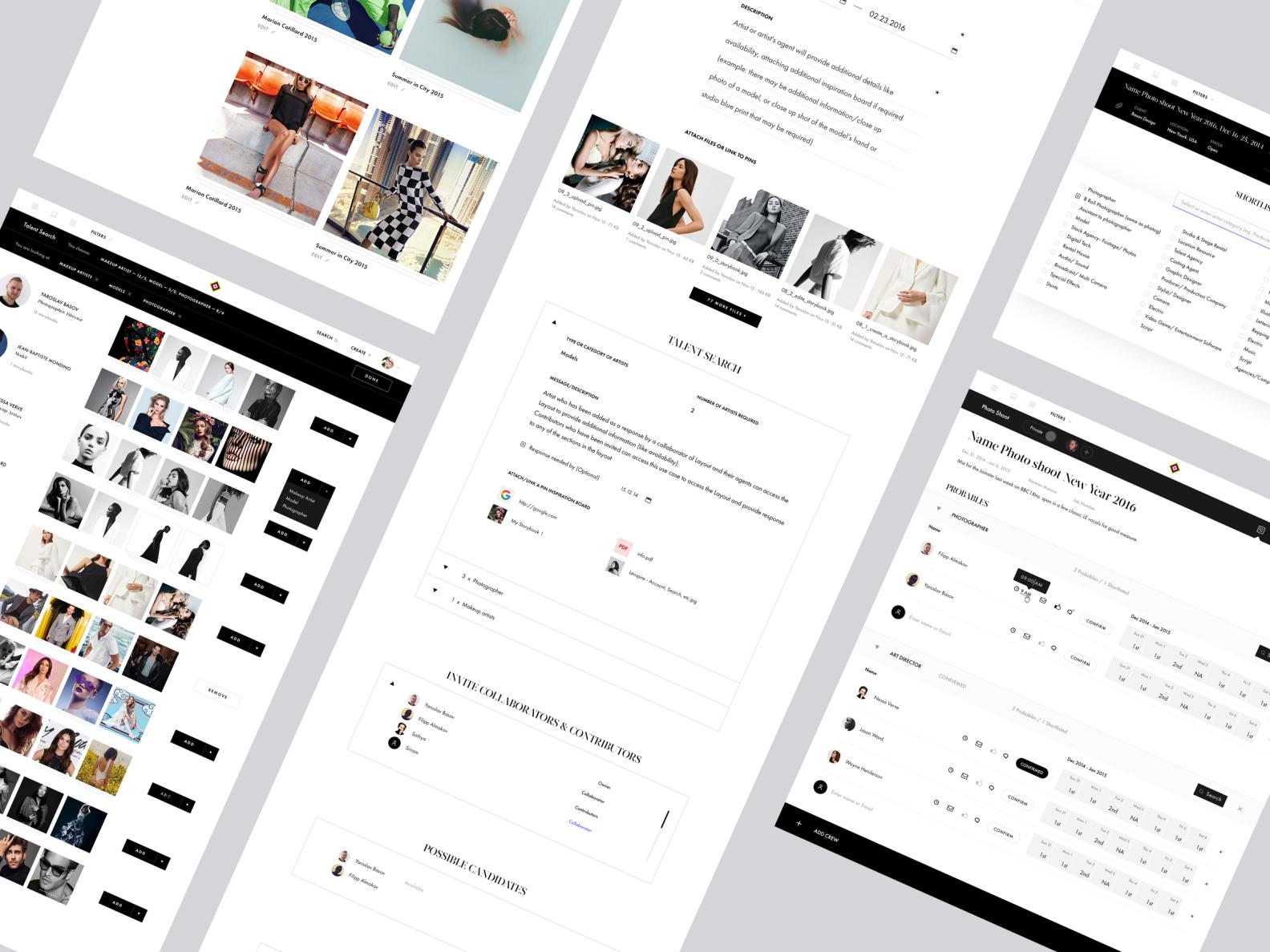 Lenspire website lp fashion by basov design 1