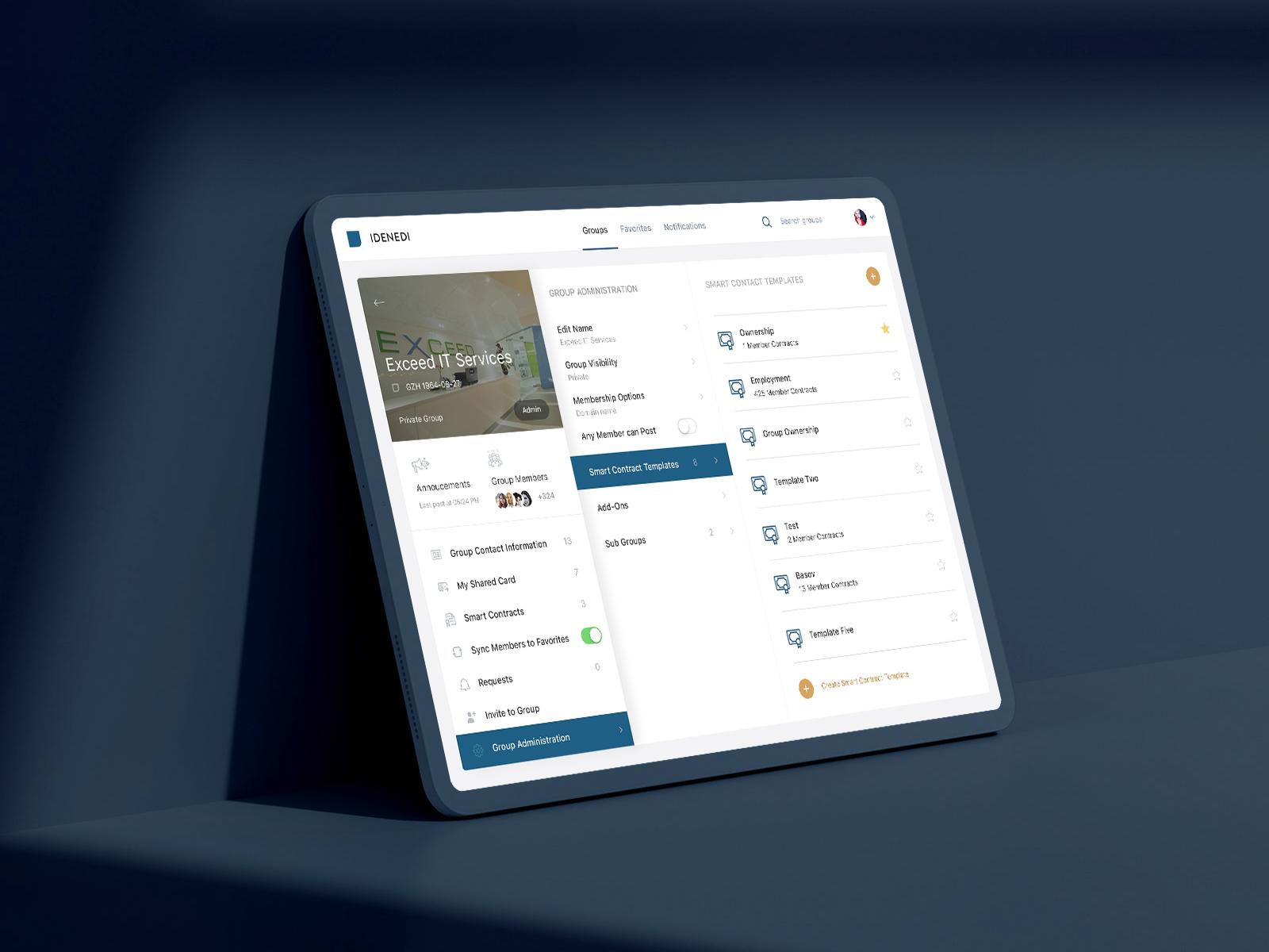 Idenedi dashboard by basov design 1