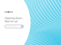 Opening soon page. Inforca website