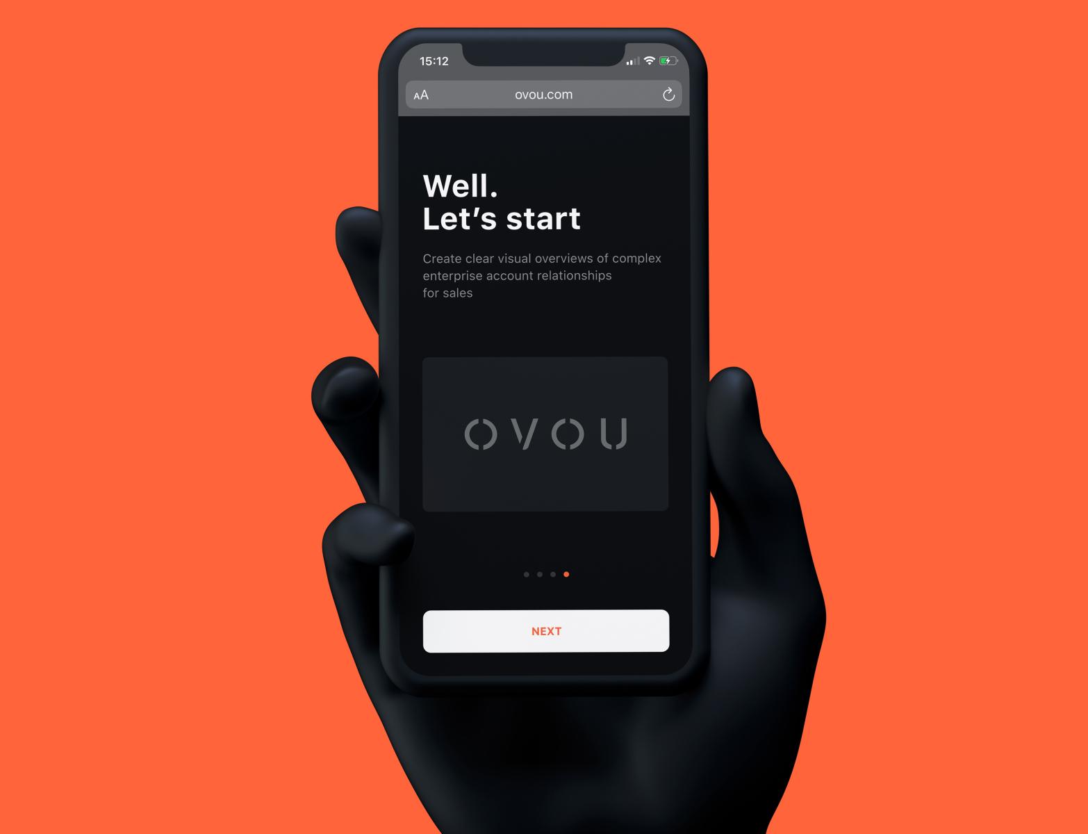 Ovou com website and branding design by basov design ovou card