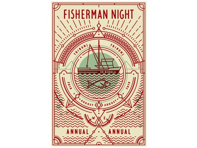 Fisherman Night Festival Poster