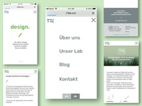 relaunch of a website in mobile resolution