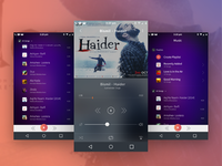 Music Streaming Mobile App Interface
