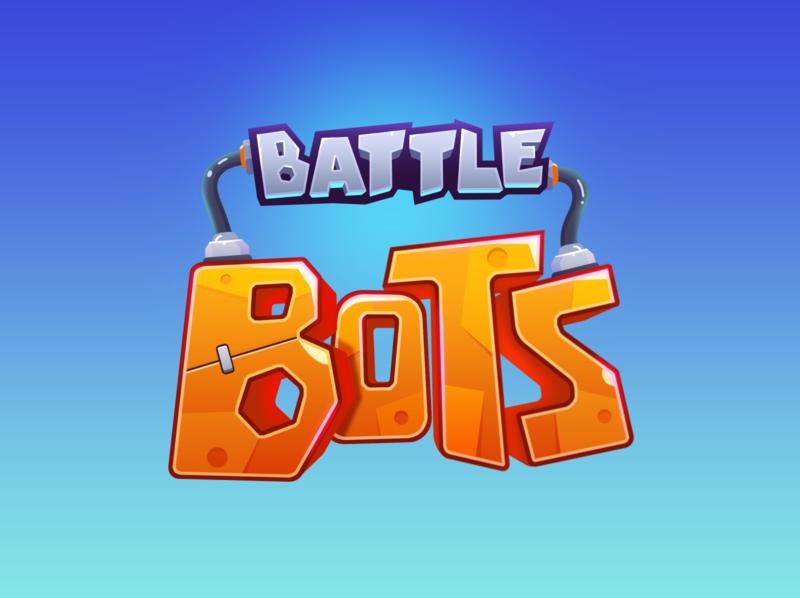 Battle Bots Game logo graphic design illustration vector ui cartoon game logo game art game ui logo design logo