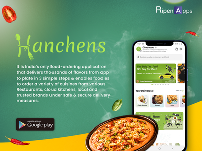 Hanchens: The Flavour of India from App to Plate with India's On ui ux app design addiction recovery community user experience mobile app ui ux design mobile app experience ui  ux design mobile app icon mobile app development mobile app design