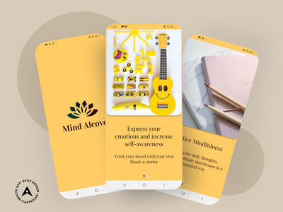 Mind Alcove: Your Personal Digital Space to Pen Down your Though ripenapps ux design ui design mobile app illustrations app uiux mind alcove healthcare app health app user experience ux ui user interface app design mobile app ui ux design mobile app experience ui ux ui  ux design mobile app design