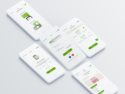GoGreen-Waterless Car Wash Solution ui ux user experience user interface ui  ux design mobile app icon mobile app design