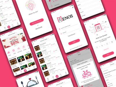 Menos- Hotel Menu's At Home mobile app design ui ux user experience ui ux ui  ux design mobile app development mobile app icon design