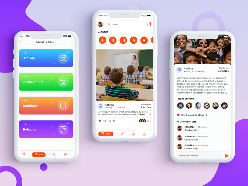 Clazma-The Classroom Management App mobile app icon mobile app experience ui ux user experience ui  ux design mobile app design mobile app development