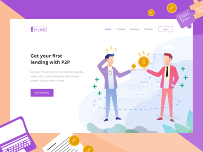Investation Website Landing Page