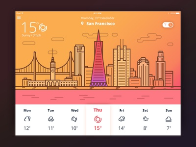 Weather App weatherapp iconset graphicdesign calendar ipad illustration interface icons appdesign ux ios ui