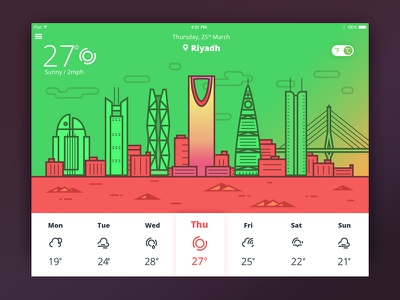 Weather Icons Presentation weatherapp ux ui ipad ios interface illustration iconset icons graphicdesign calendar appdesign