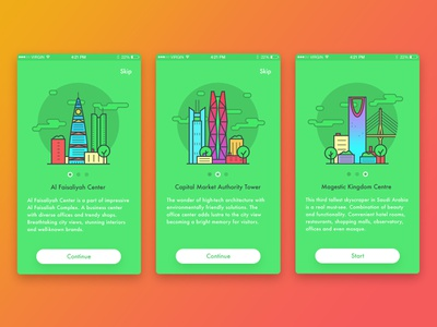 Ryiadh Tour Guide interatction help ux ui ipad android ios interface illustration graphicdesign tutorial appdesign