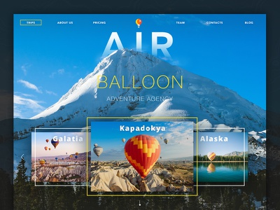Adventure Agency Website product ios service appdesign dashboard ux ui webdesign sport interface traveling landingpage