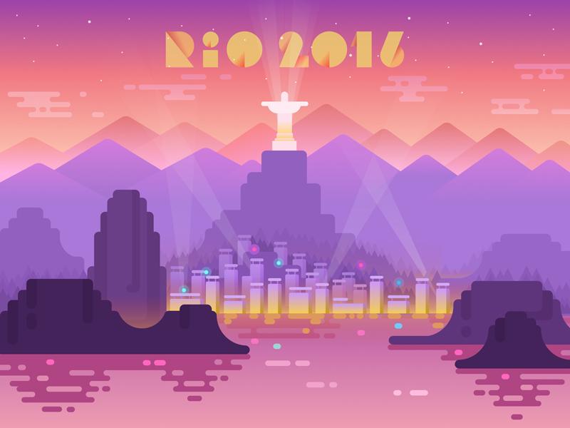 Rio 2016  vector userinterface brazil flat interface ux ui sport colors graphicdesign rio2016 illustration
