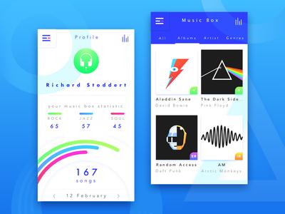 Media App Concept icon service web music media flat ux vector ui illustration design app